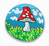 Happy Mushroom Polymer Clay Silly Milly
