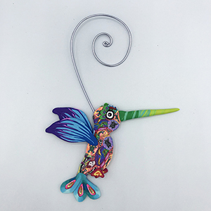 Hummingbird Polymer Clay Ornament THUMBNAIL