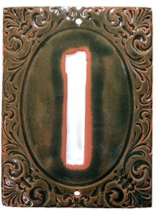 Victorian House Numbers Lime/Marshmallow MAIN