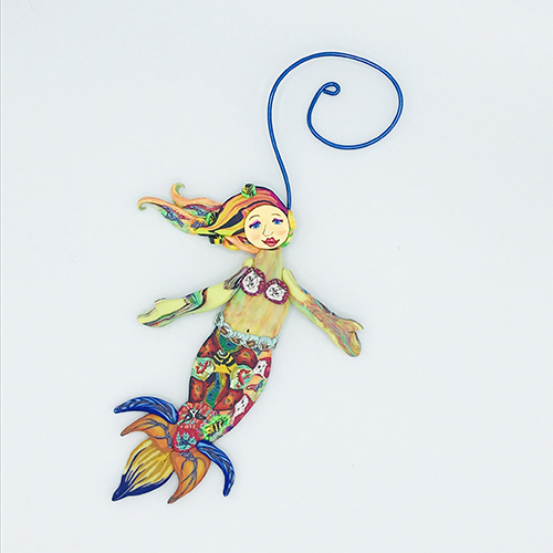 Mermaid Polymer Clay Ornament MAIN