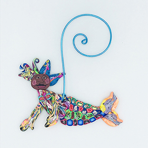 Mermaid Polymer Clay Ornament SWATCH