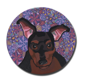 Min Pin Polymer Clay Magnet or Pin