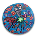 Mo the Mosquito Polymer Clay Magnet or Pin