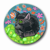 Nora's Black Cat Polymer Clay Silly Milly
