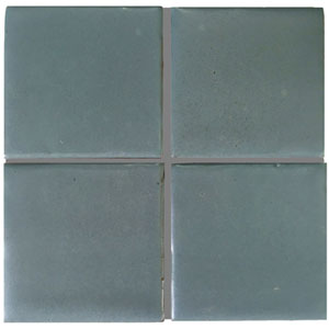 satin blue handmade tile