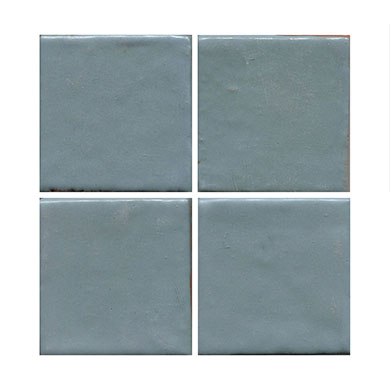 satin blue handmade tile MAIN