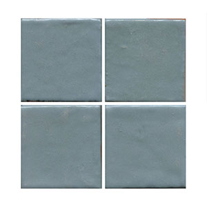 satin blue handmade tile THUMBNAIL