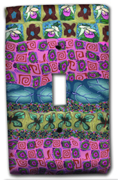 Pastel Garden Quilt Silly Milly Switch Plate MAIN