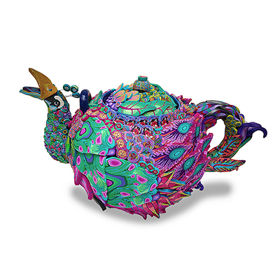 Peacock Teapot SWATCH