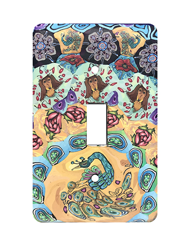Peacock Silly Milly Switch Plate MAIN