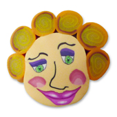 Penelope With Hair Polymer Clay Bead