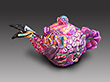 Small Flamingo Teapot Wide