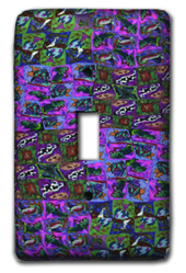 Pink and Green Patchwork Silly Milly Switch Plate MAIN