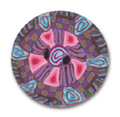 Pink Splash  Polymer Clay Button_MAIN