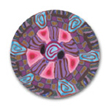 Pink Splash  Polymer Clay Button THUMBNAIL