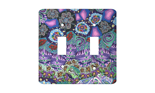 Purple Patchwork Silly Milly Switch Plate SWATCH