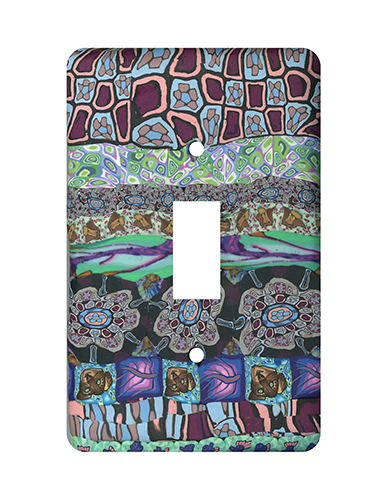 Purple Patchwork Silly Milly Switch Plate MAIN
