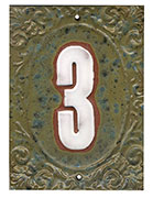 Victorian House Numbers Quail's Egg/Marshmallow SWATCH