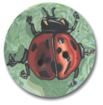 Polymer Clay Buttons, Bug Buttons