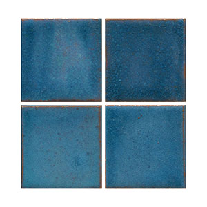 mid century blue, green tile, flat tile, plain tile, subway tile, hexagon tile, solid color tile, color tile, handmade THUMBNAIL