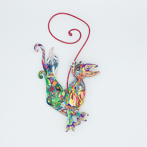 Rooster Polymer Clay Ornament MAIN