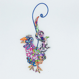 Rooster Polymer Clay Ornament SWATCH