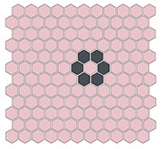 "Daisy 1"" Hex SWATCH"