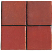 red, cranberry, tile, flat tile, plain tile, subway tile, hexagon tile, solid color tile, color tile, handmade
