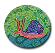 Snail Polymer Clay Magnet or Pin