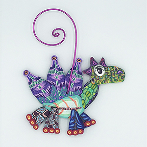 Dragon Polymer Clay Ornament SWATCH