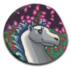 Twilight Unicorn Polymer Clay Magnet or Pin