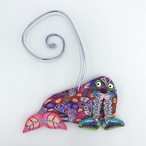 Walrus Polymer Clay Ornament THUMBNAIL