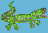 Alligator Polymer Clay Wall Sculpture, Layl's Silly Milly Art MAIN