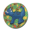 Blue Bronto Polymer Clay Magnet or Pin