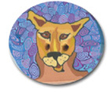 Cougar Polymer Clay Button