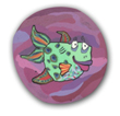Finona the Fish Polymer Clay Bead