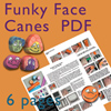 Funky Face Cane PDF Tutorial THUMBNAIL