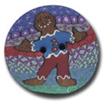 Gingerbread Man Polymer Clay Button THUMBNAIL