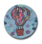Hot Air Balloon Polymer Clay Silly Milly