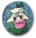 Polymer Clay Buttons, Flower and Leaf Buttons