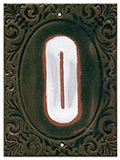 Victorian House Numbers Lime/Marshmallow SWATCH
