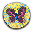Magenta Butterfly Polymer Clay Silly Milly THUMBNAIL