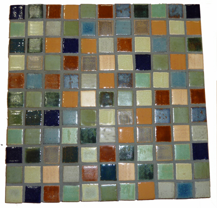 "Multi-Color 1 x 1"" Tiles (4 SF Available) THUMBNAIL"