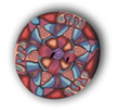 Mexican Mandala Polymer Clay Button_THUMBNAIL