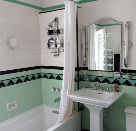mint bathroom