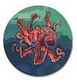 Octopus Polymer Clay Magnet or Pin