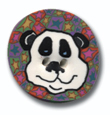 Panda Polymer Clay Button