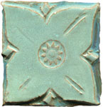 Solid Medieval Copper Patina Tile Mini-Thumbnail