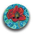 Poppy Polymer Clay Button THUMBNAIL