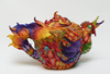Large Rooster Teapot Wide